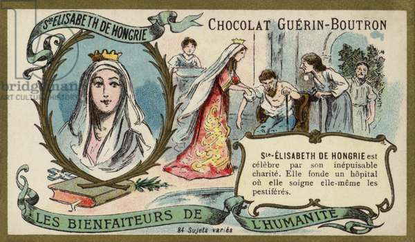 St Elizabeth of Hungary (chromolitho)
