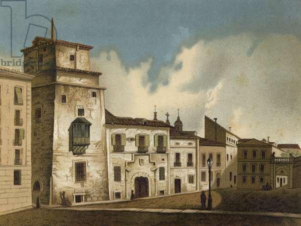 House where Francis I of France was imprisoned, Madrid, 1525-1526 (chromolitho)