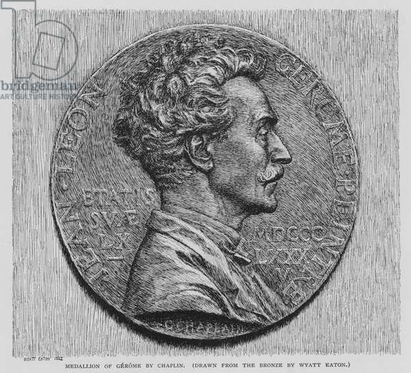 Medallion of Gerome by Chaplin (litho)