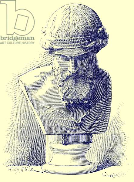 Plato, illustration from 'History of Rome' by Victor Duruy, published 1884 (digitally enhanced image)