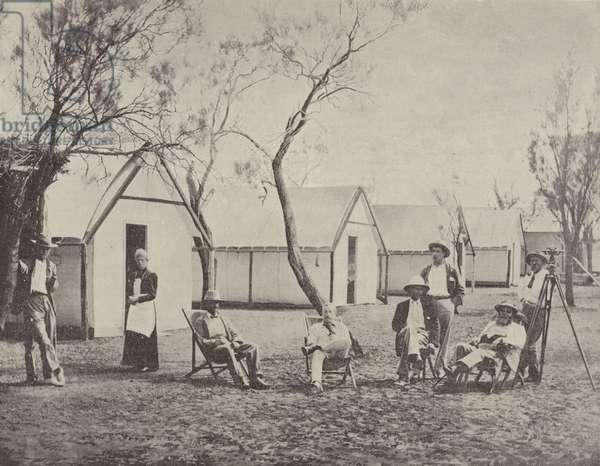 A Mining Camp at Hannan's, West Australia (b/w photo)