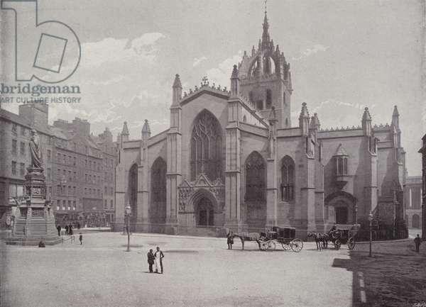 St Giles' Church, Edinburgh (b/w photo)