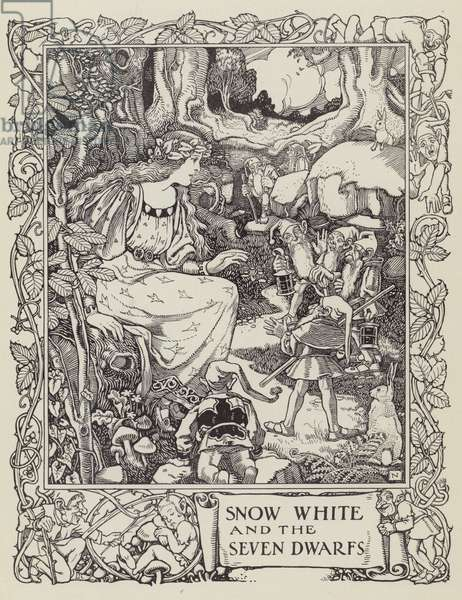 Snow White and the Seven Dwarfs (litho)
