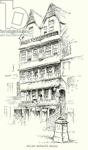 Allan Ramsay's House (engraving)