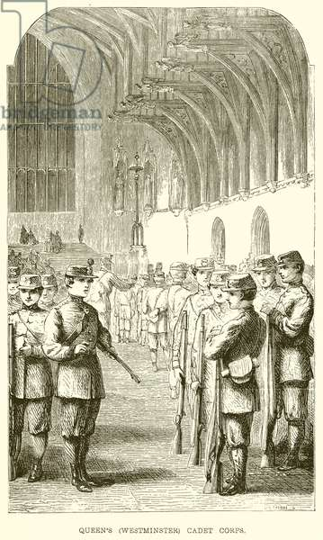 Queen's (Westminster) Cadet Corps (engraving)