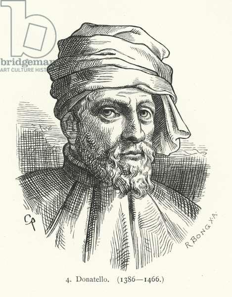 Donatello, Italian Renaissance sculptor (engraving)