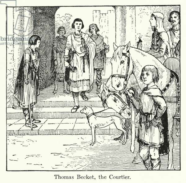 Thomas Becket, the Courtier (litho)