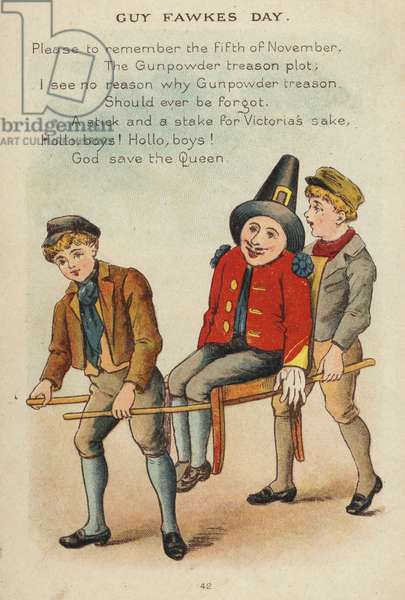 Nursery rhyme: Guy Fawkes Day (chromolitho)