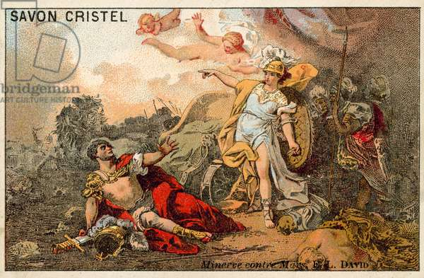 The Combat of Mars and Minerva (chromolitho)