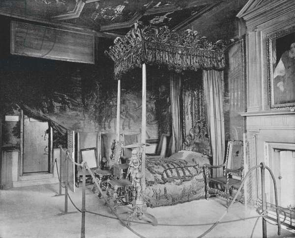 Queen Mary's Bedroom at Holyrood (b/w photo)