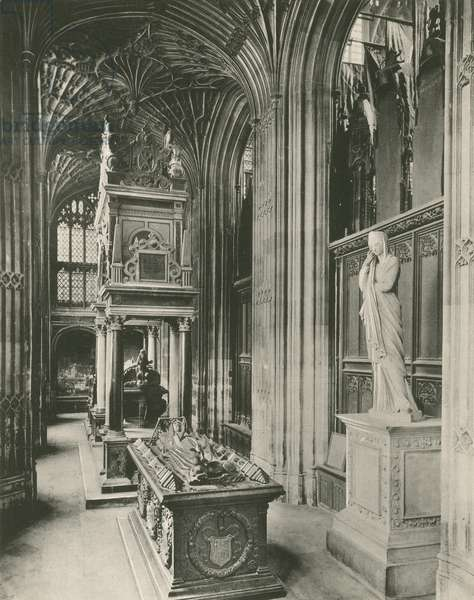 Henry VII Chapel: Tomb of Mary Queen of Scots (b/w photo)