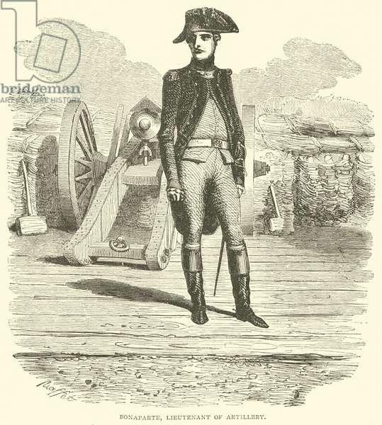 Bonaparte, Lieutenant of Artillery (engraving)