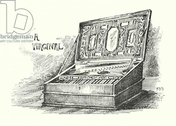 A Virginal (litho)