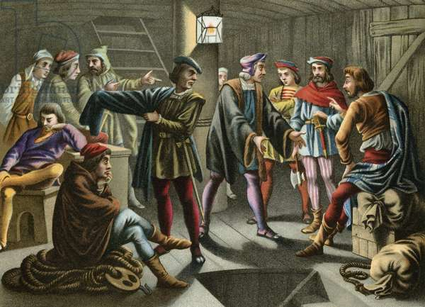 Columbus calms down a plot brewing on board