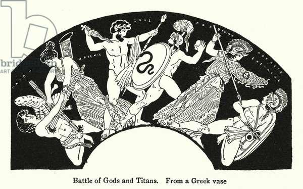 Battle of Gods and Titans (litho)