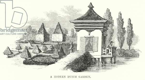 A Modern Dutch Garden (engraving)