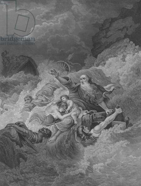 The Shipwreck of St Paul, Acts 27, Verse 1-44 (engraving)