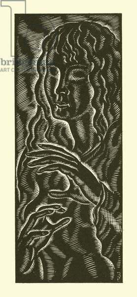Blind girl, 1939 (litho)