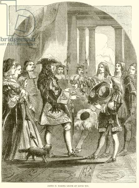 James II. taking leave of Louis XIV (engraving)