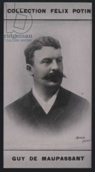Guy de Maupassant (1850-1893) (b/w photo)