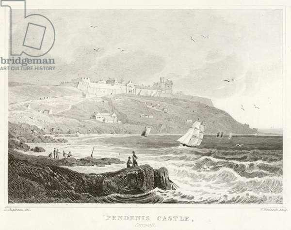Pendenis Castle, Cornwall (engraving)