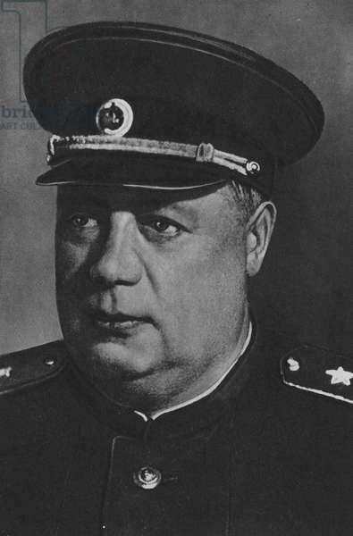Marshal Tolbukhin, Commander 3rd Ukranian Front (b/w photo)