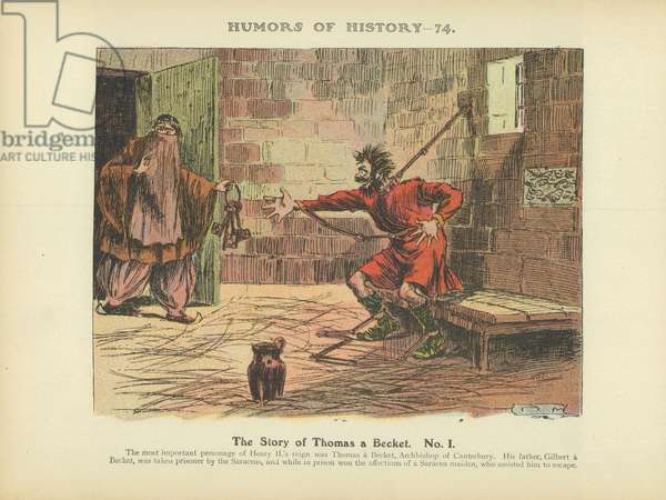 The Story of Thomas a Becket. No. 1 (colour litho)