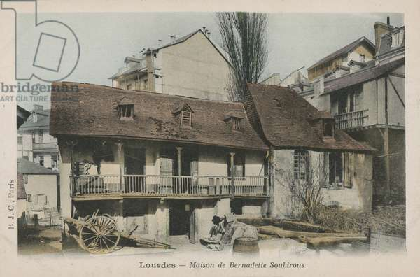 House of Bernadette Soubirous, witness of apparitions of the Virgin Mary in 1858, Lourdes, France (colour photo)