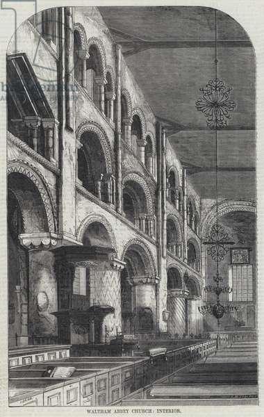 Waltham Abbey Church, Interior (engraving)