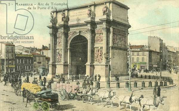 Marseille, Arc De Triomphe De La Porte D'Aix (colour photo)