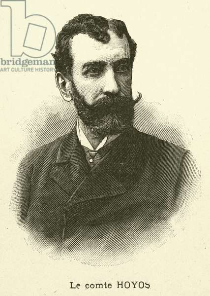 Count Hoyos, Austro-Hungarian Ambassador to France (engraving)