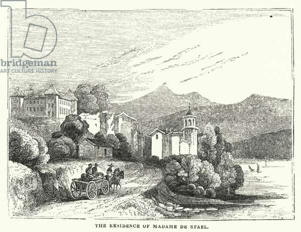 The Residence of Madame de Stael (engraving)