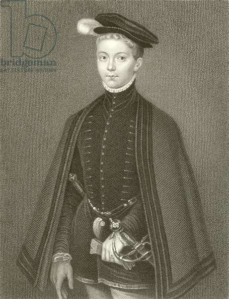Henry Stuart, Lord Darnley, King of Scotland (engraving)