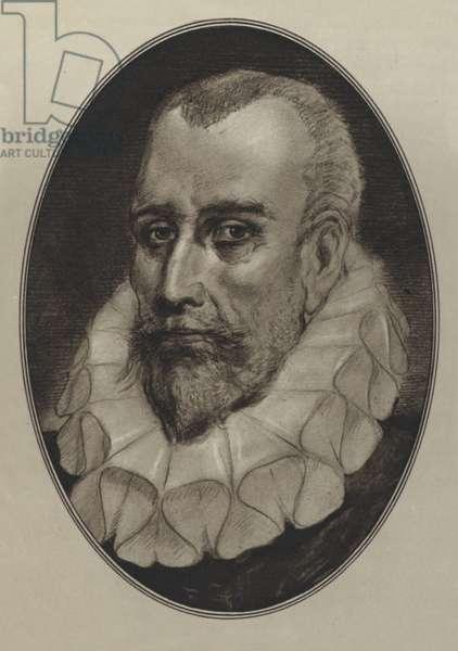 Miguel De Cervantes Saavedra (litho)