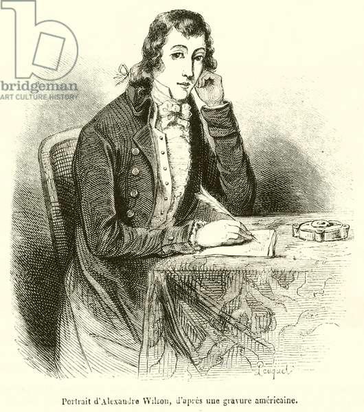 Portrait d'Alexandre Wilson (engraving)
