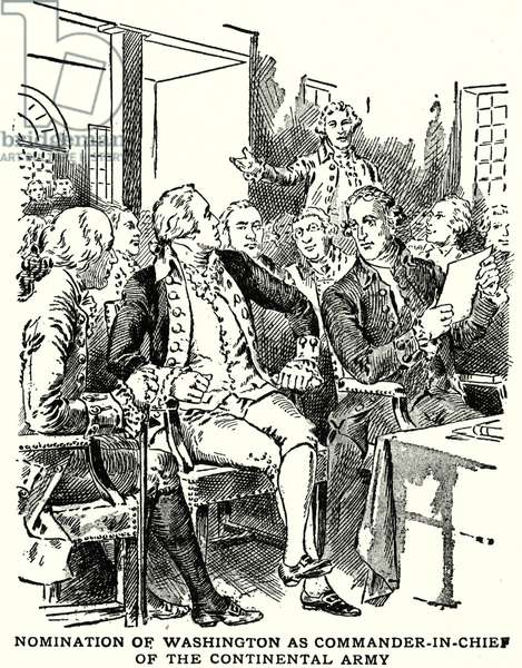 Nomination of Washington as Commander-in-Chief of the Continental Army (litho)