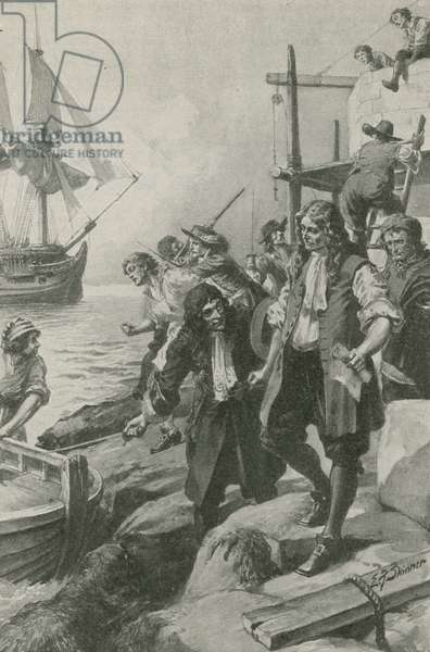 Winstanley carried off by pirates (litho)