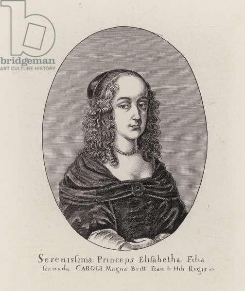 Princess Elizabeth, second daughter of King Charles I (engraving)