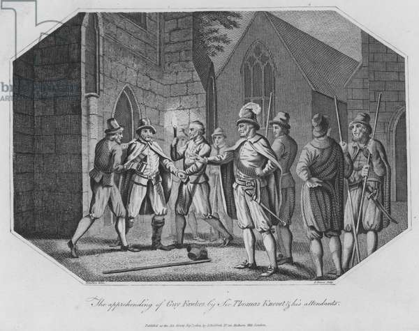 The apprending of Guy Fawkes by Sir Thomas Knevet and his attendants (engraving)