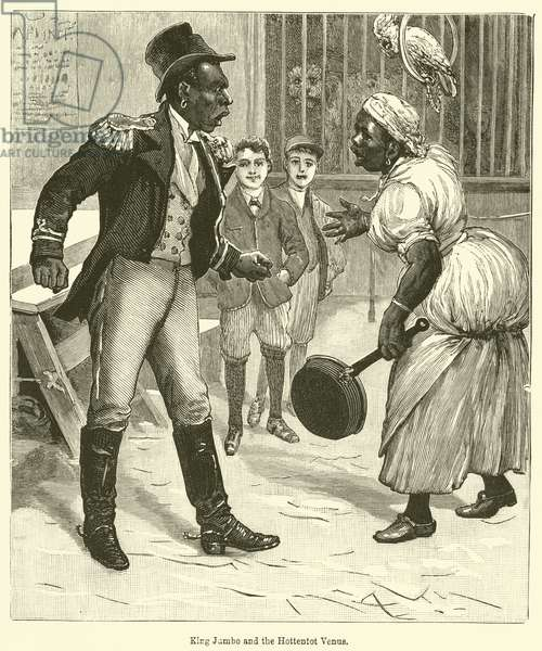 King Jumbo and the Hottentot Venus (engraving)
