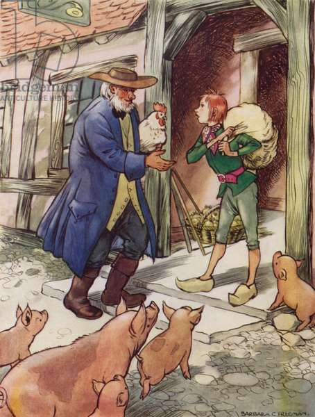 Hans Christian Andersen story: What The Old Man Does Is Always Right (colour litho)