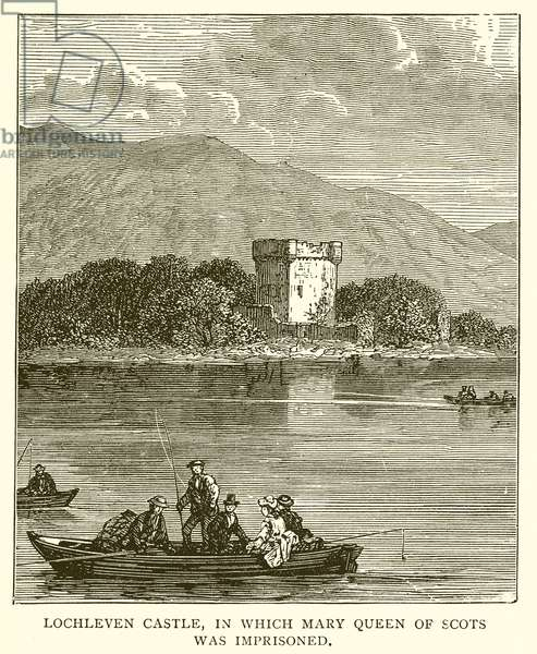Lochleven Castle, in which Mary Queen of Scots was Imprisoned (engraving)
