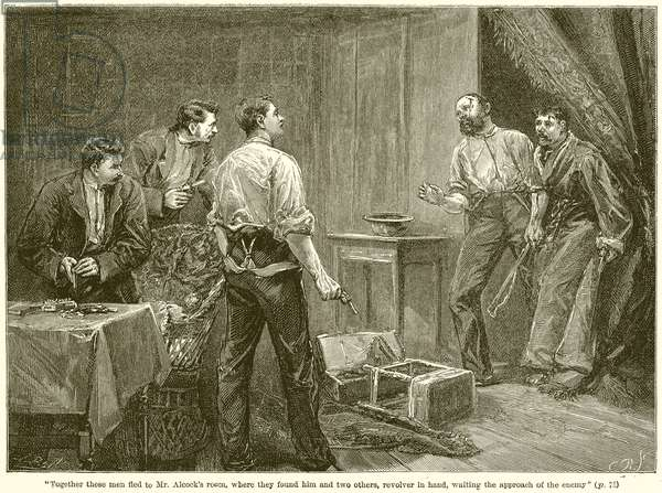 Together these Men Fled to Mr. Alcock's Room ... (engraving)