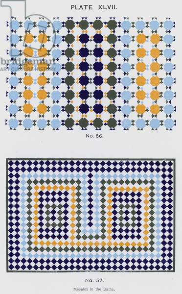 Mosaics in the Baths (colour litho)