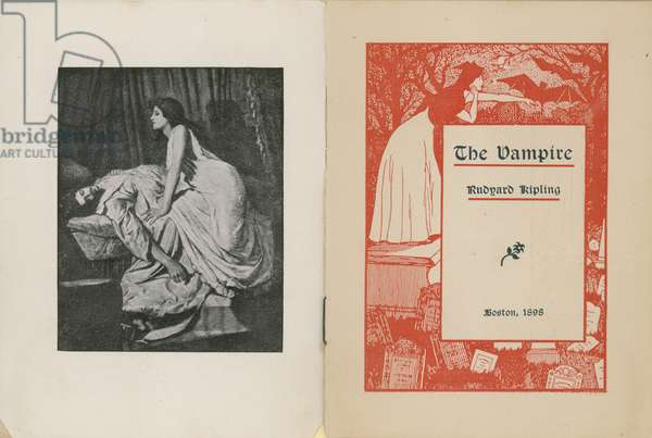Frontispiece and title page for The Vampire by Rudyard Kipling (litho)
