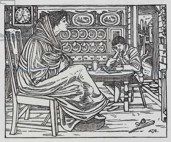 Hans Christian Andersen: Little Tuk (litho)