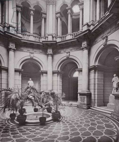 National Gallery of British Art, the Central Hall (b/w photo)