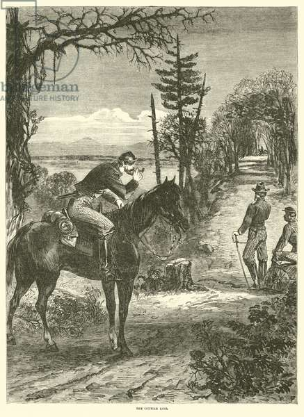 The courier line, April 1863 (engraving)