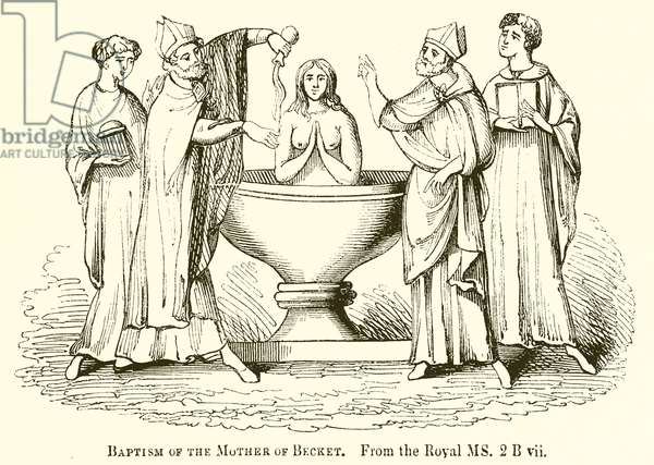 Baptism of the Mother of Becket (engraving)