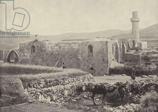 Church of St John, Samaria, where John the Baptist was beheaded (b/w photo)